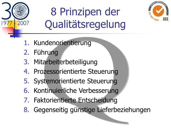 8 Prinzipen der