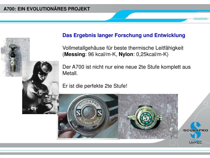 A700: EIN EVOLUTIONÄRES PROJEKT