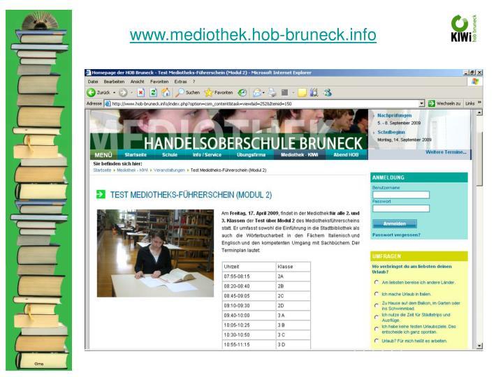 www.mediothek.hob-bruneck.info