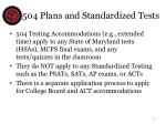 504 plans and standardized tests