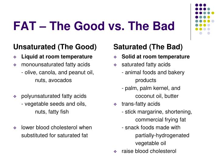 FAT – The Good vs. The Bad