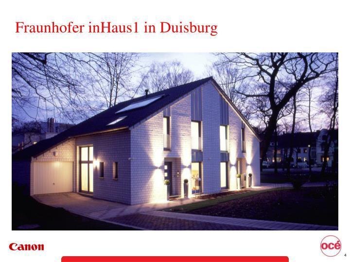 Fraunhofer inHaus1 in Duisburg