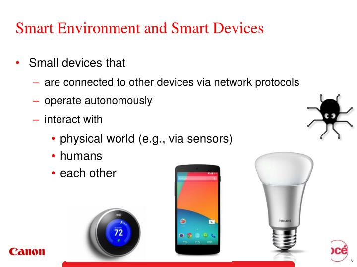 Smart Environment and Smart Devices