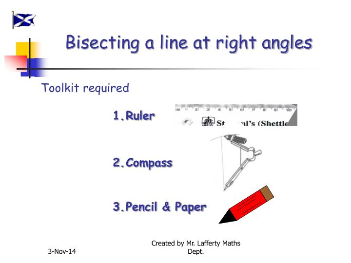 Bisecting a line at right angles
