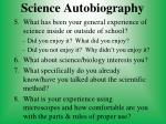 science autobiography