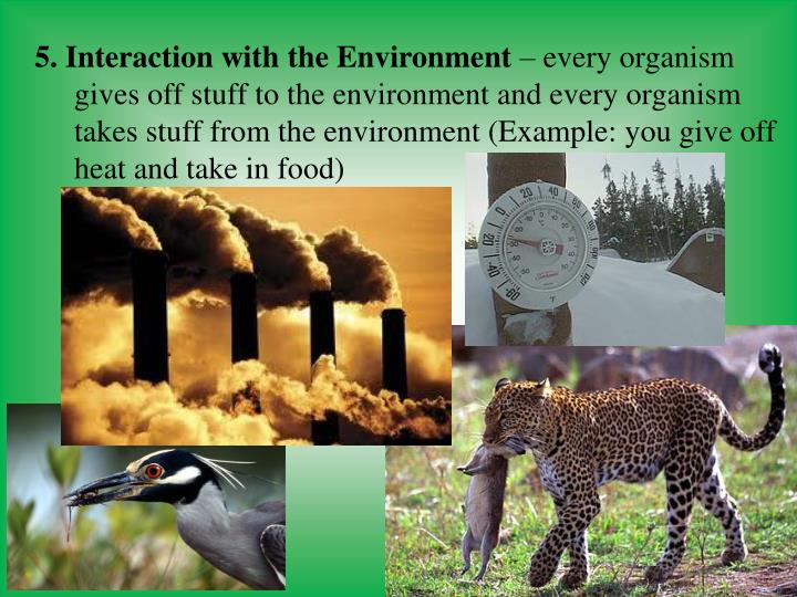 5. Interaction with the Environment