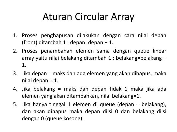 Aturan Circular Array