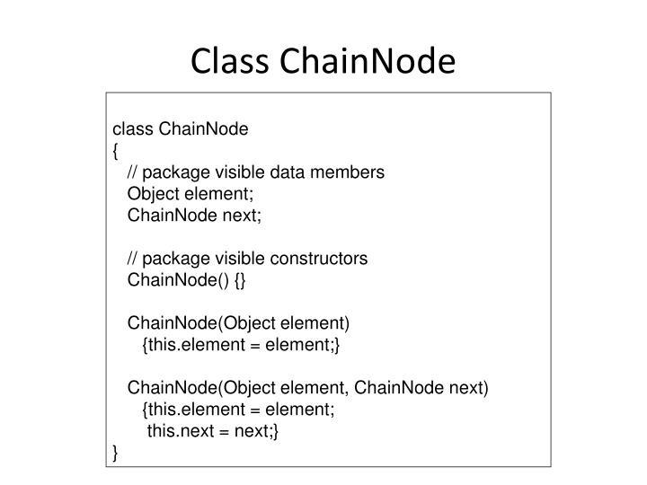 Class ChainNode