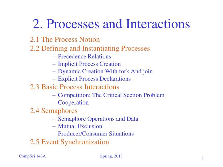 2 processes and interactions