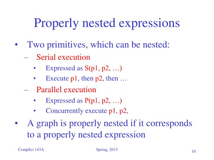 Properly nested expressions