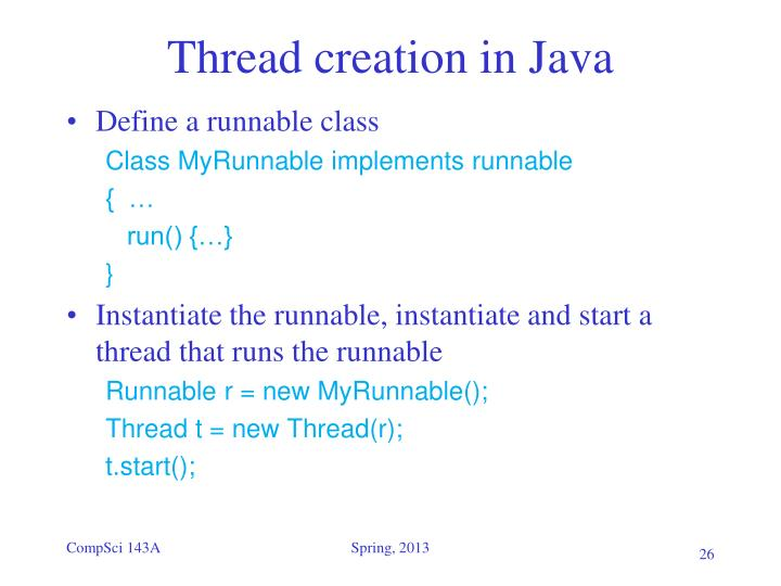 Thread creation in Java