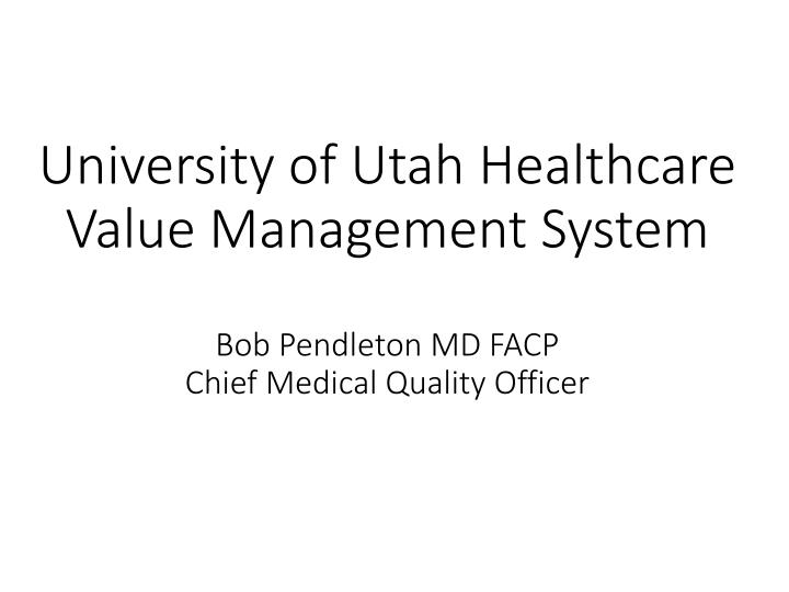 University of Utah Healthcare