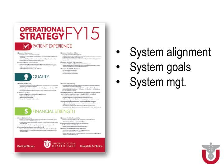System alignment