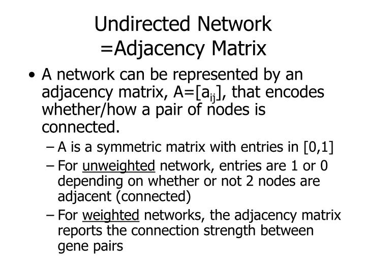 Undirected Network