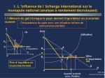 1 l influence de l change international sur le monopole national analyse rendement d croissant3