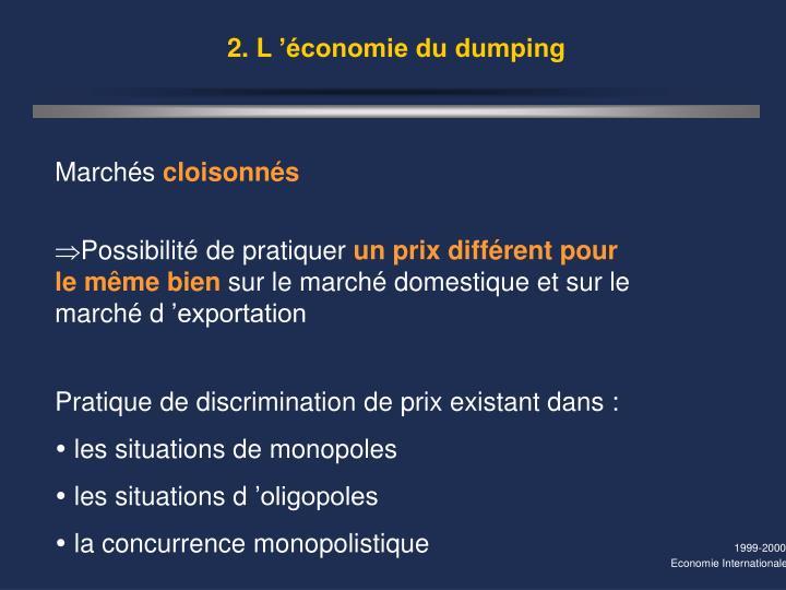2. L'économie du dumping