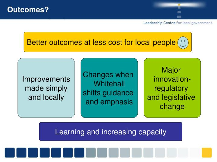 Better outcomes at less cost for local people