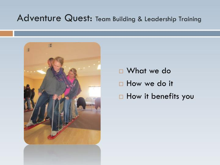 Adventure quest team building leadership training1