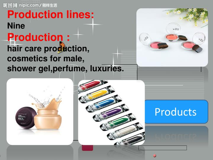 Production lines: