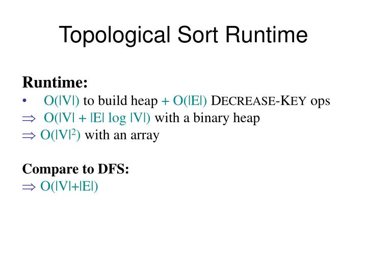 Topological Sort Runtime