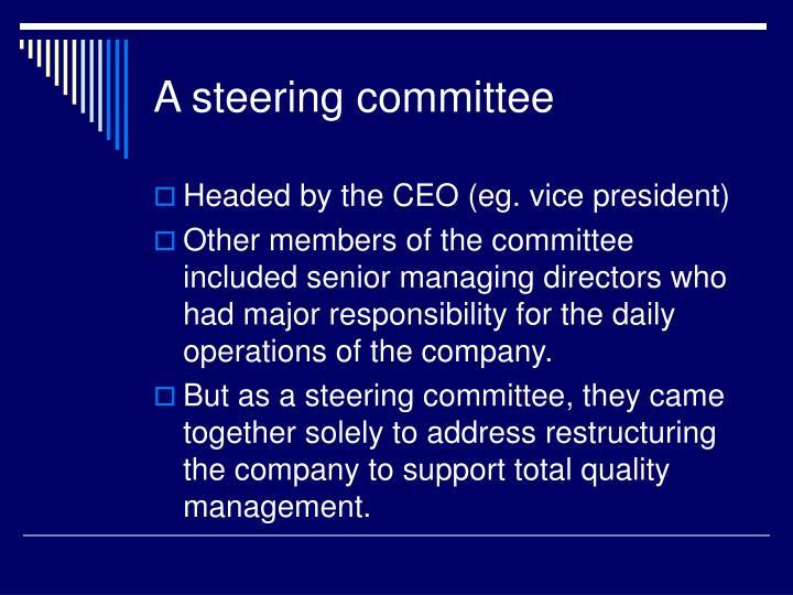 A steering committee