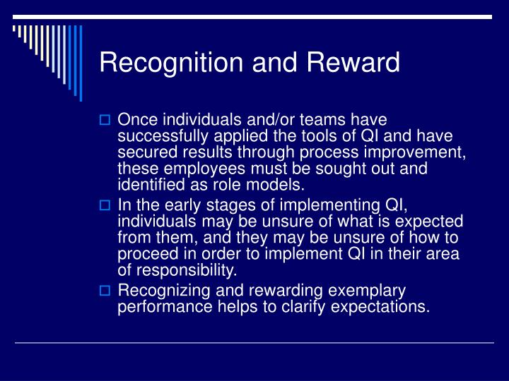 Recognition and Reward