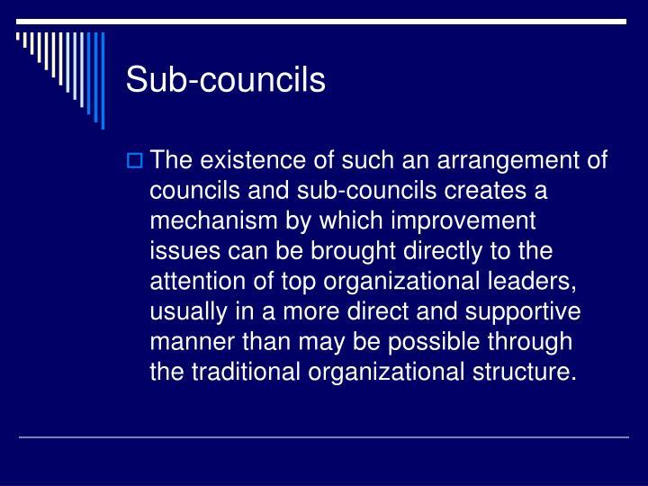 Sub-councils