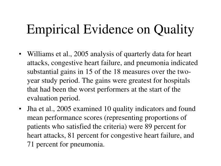 Empirical Evidence on Quality