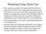 financing long term care