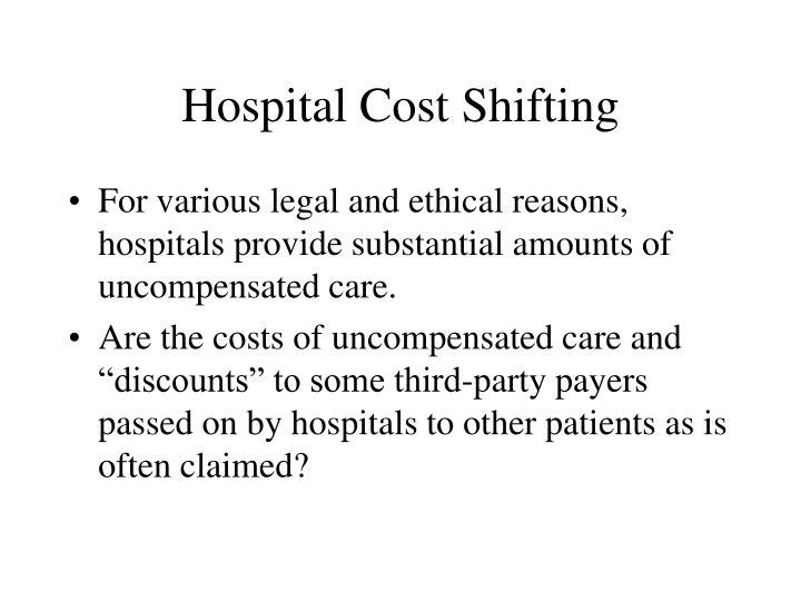 Hospital Cost Shifting