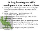 life long learning and skills development recommendations1