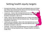 setting health equity targets1
