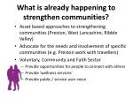 what is already happening to strengthen communities1