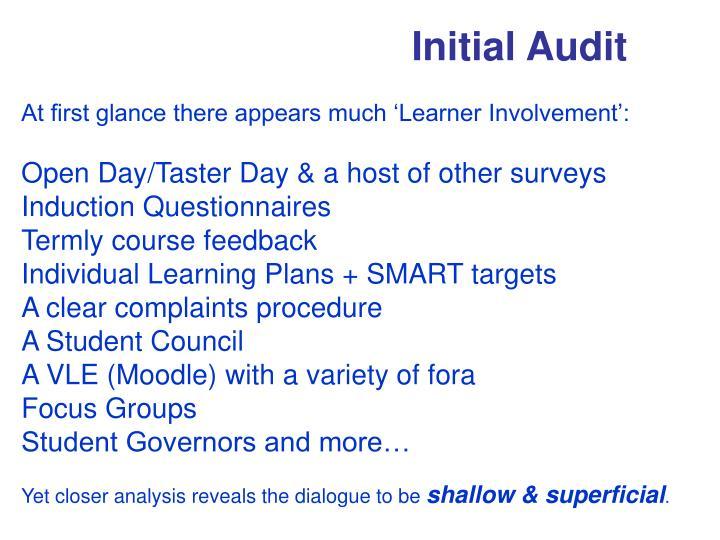 Initial Audit