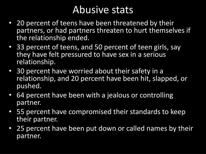 Abusive stats