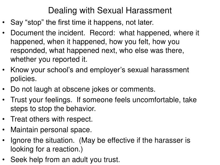 Dealing with Sexual Harassment