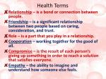 health terms