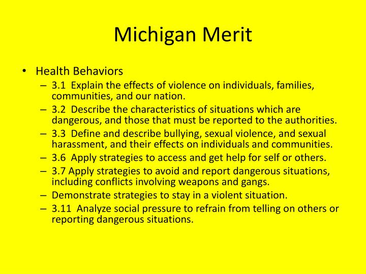 Michigan Merit