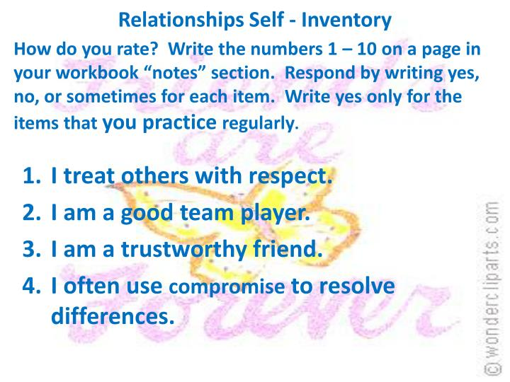 Relationships Self - Inventory