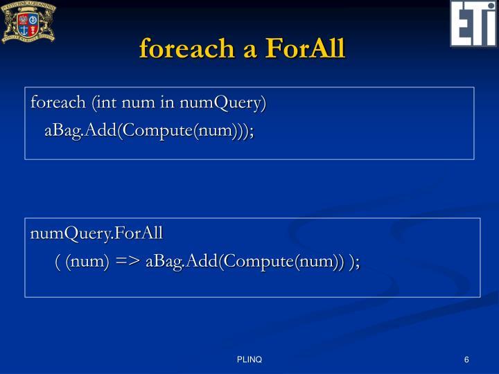 foreach a ForAll