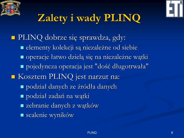 Zalety i wady PLINQ