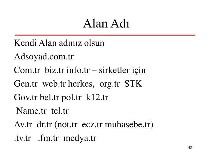 Alan Adı