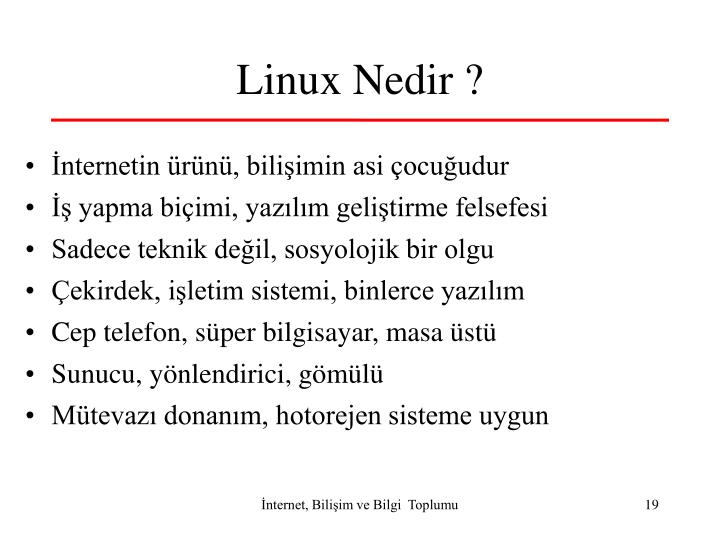 Linux Nedir ?