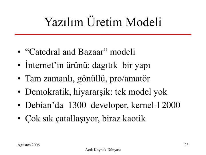 Yazılım Üretim Modeli