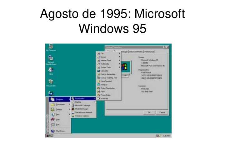 Agosto de 1995: Microsoft Windows 95