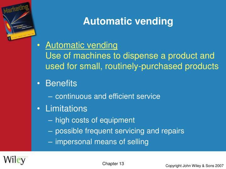 Automatic vending