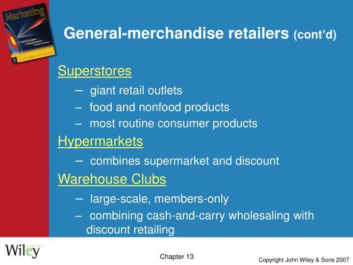 General-merchandise retailers