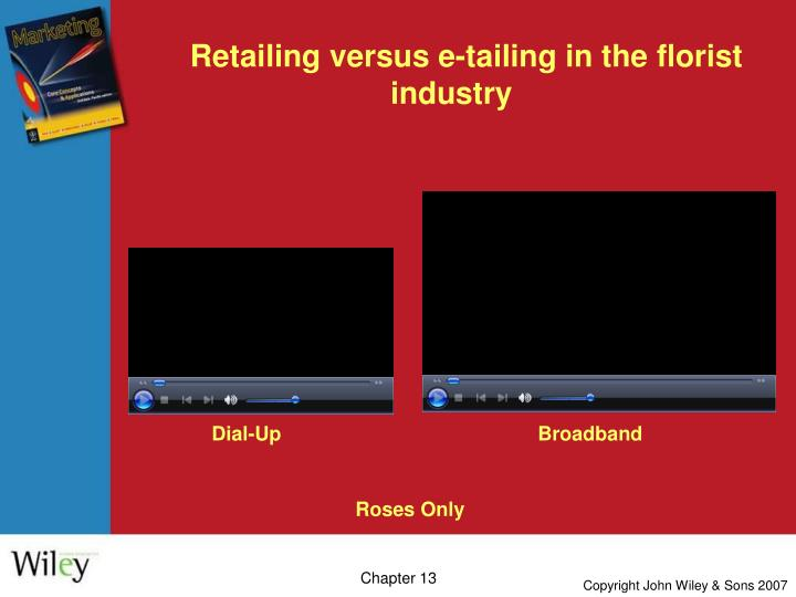 Retailing versus e-tailing in the florist industry