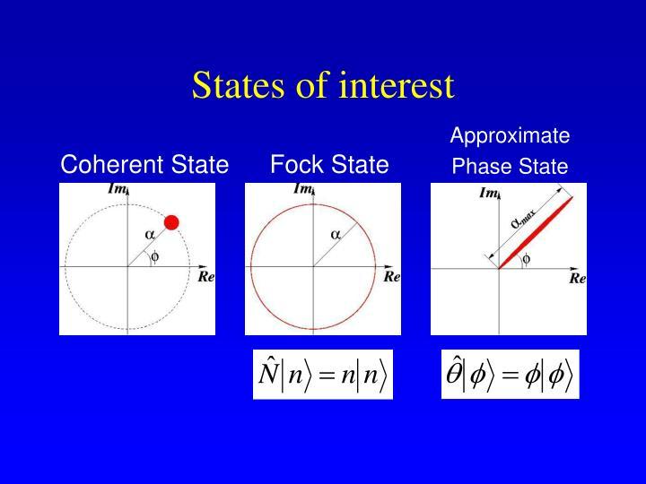 States of interest