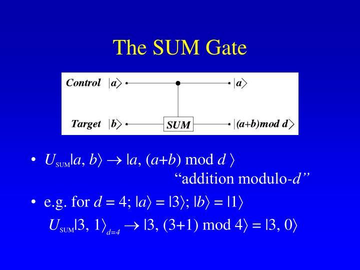 The SUM Gate